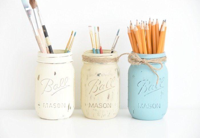 Rustic Diy Painted Mason Jars The Sweetest Digs