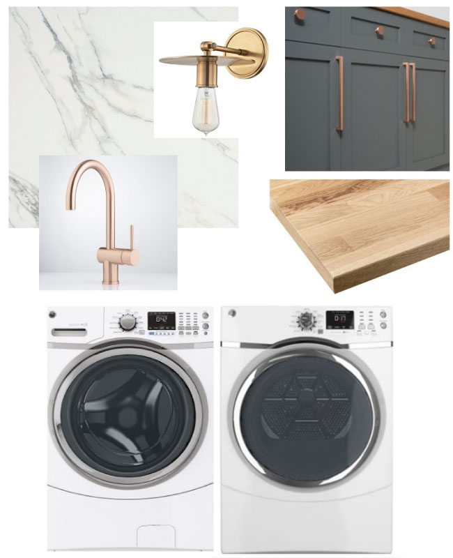 Laundry Room Design Plan | Laundry Closet Moodboard | Laundry room decor ideas