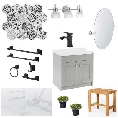 Designing a Black and White Bathroom On A Budget: A Source Guide
