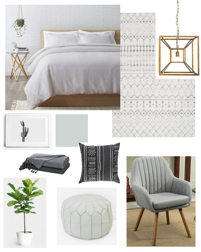 Master bedroom design moodboard