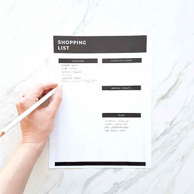 Free Printable Grocery List | Need to get organized, meal plan, and stick to your budget? Use this printable shopping list to stay on track. Click through for the free download!