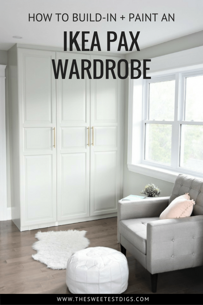 The IKEA Pax Hack. How to customize your Pax wardrobe and make it look built in. Including the best primer and paint for IKEA furniture!