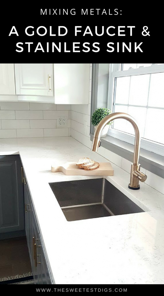Fixing My Design Mistake With A Gold Kitchen Faucet by Delta ...
