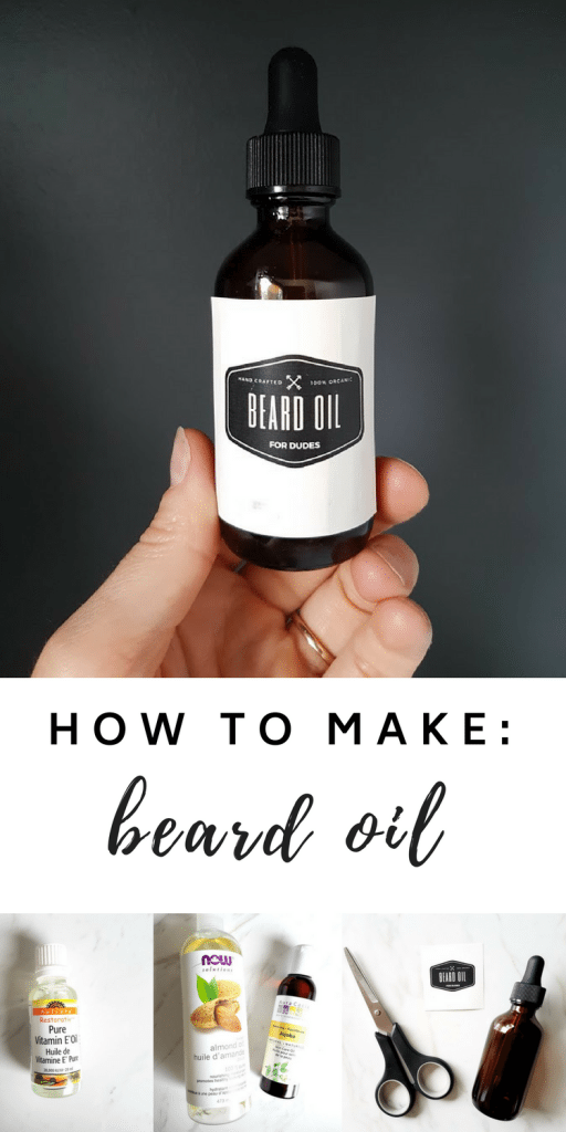 DIY beard oil - How to make #homemade #beard #oil. The easy #recipe - a perfect gift for him!