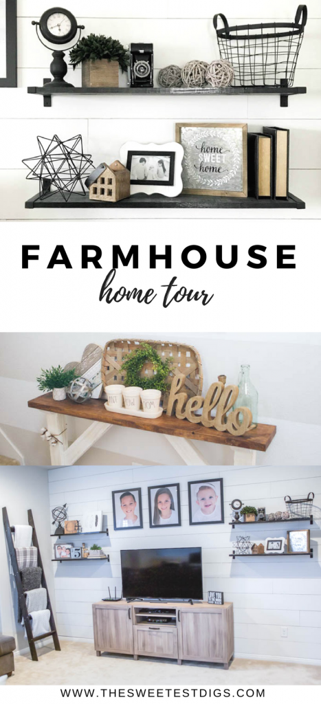 Farmhouse Home Tour featuring gorgeous neutral rooms, Fixer Upper style!
