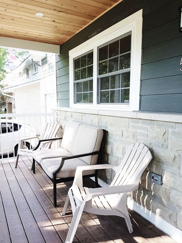 Create a cozy porch on a budget with hand-me-down finds!