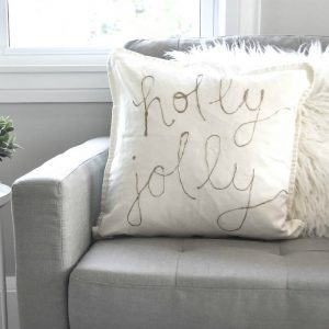 How to Make DIY Gold Foil Pillows