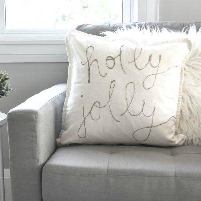 How to Make DIY Gold Foil Pillows
