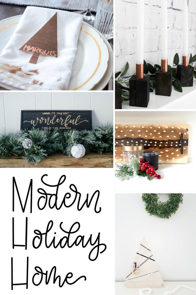 Make Your Own Modern Wooden Christmas Tree The Sweetest Digs