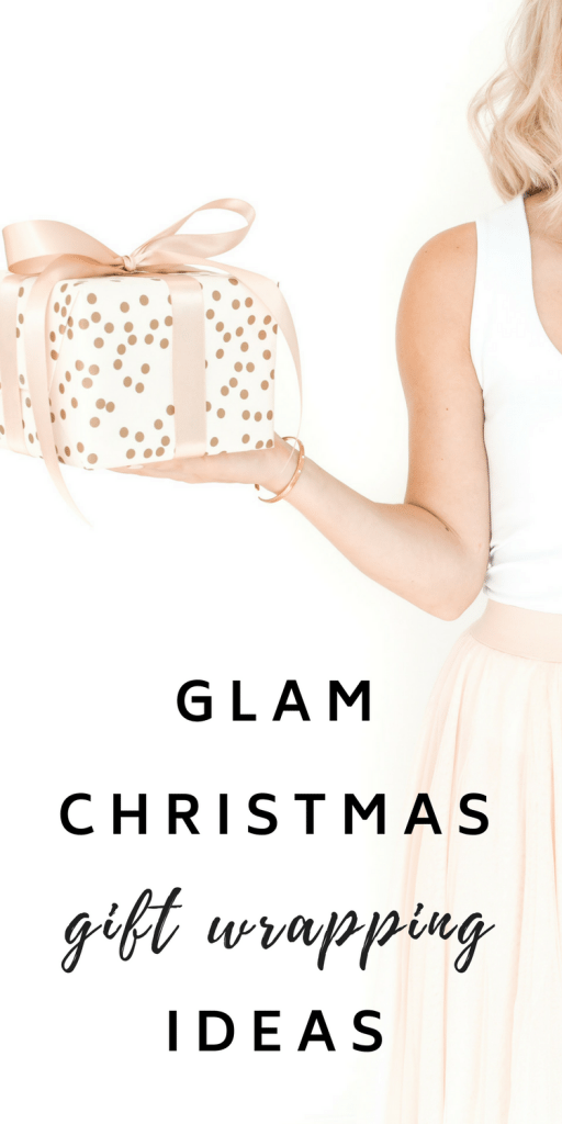 #Christmas #Gift #Wrapping Ideas - Get a chic gold and pink look with these glam supplies!