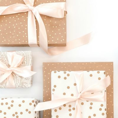 Christmas Gift Wrapping Ideas: Gold and Pink Glam