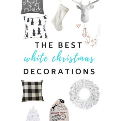 #White #Christmas #Decorations. Get that all neutral, snowy holiday look with these decor pieces!