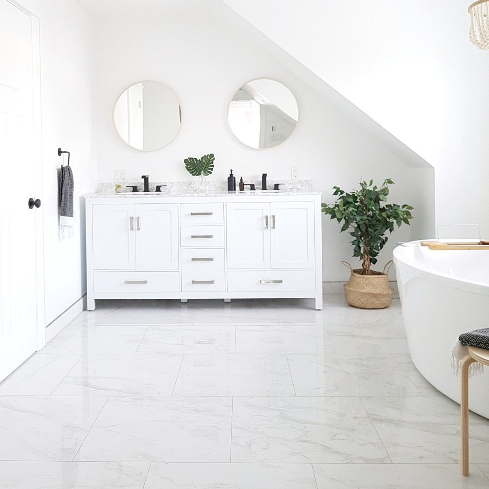 Our Modern Marble Bathroom Reveal The Sweetest Digs