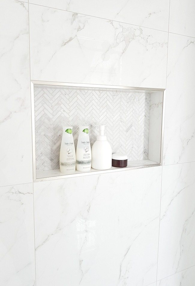 marble shower on a budget