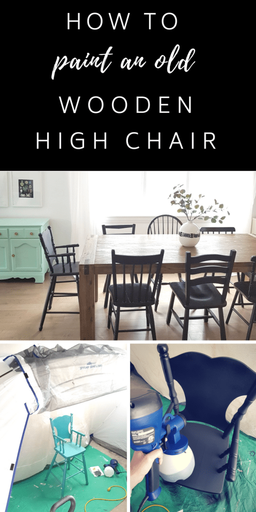 how to paint a wooden high chair