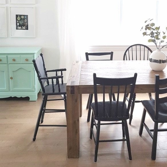 Easy Diy How To Paint A Wooden High Chair The Sweetest Digs