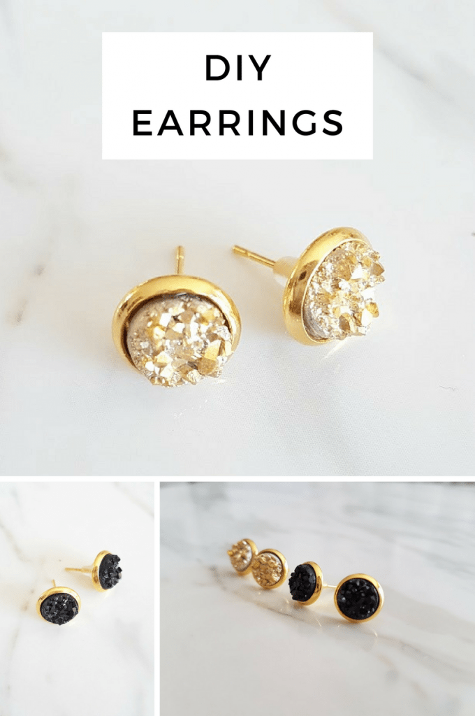 how to make druzy earrings