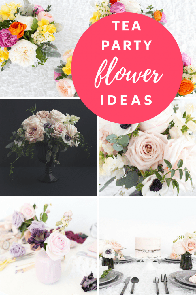 tea party flower diy
