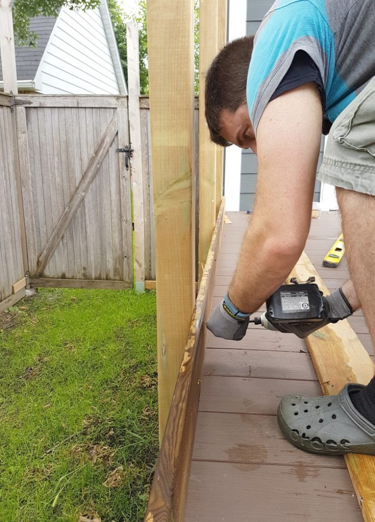 Build a Privacy Screen for Your Deck