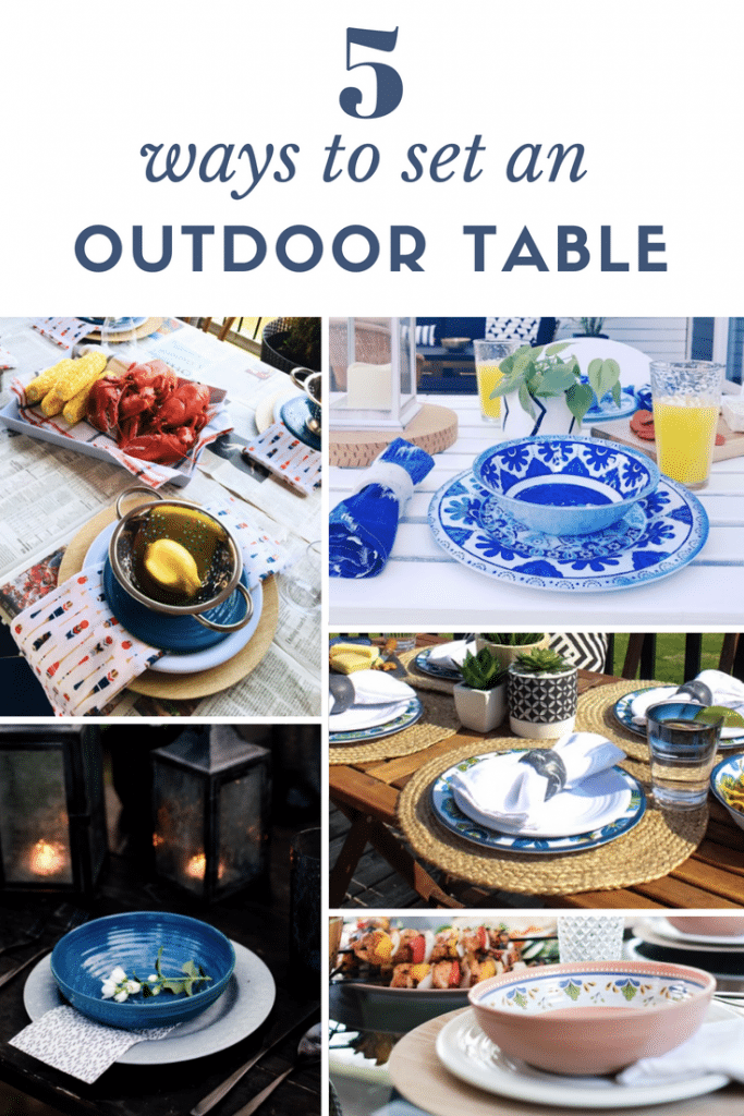 Decorate your back deck with these gorgeous outdoor dining table decor ideas! From coastal and beachy to dark and moody, there is a ton of great inspiration here for your next summer BBQ.