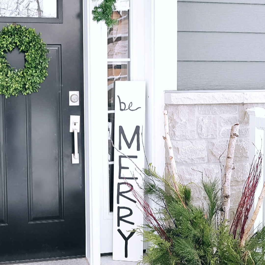 Easy Christmas Front Porch Decorating Ideas - THE SWEETEST DIGS
