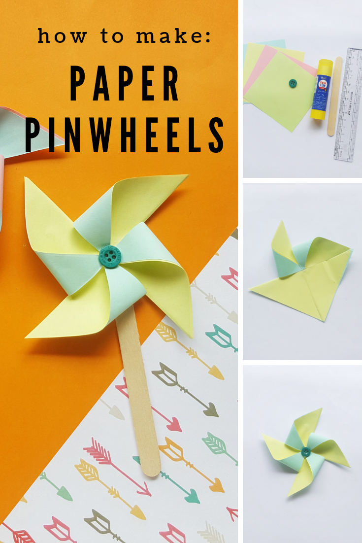 How to Make Paper Pinwheels With Your Kids   THE SWEETEST DIGS