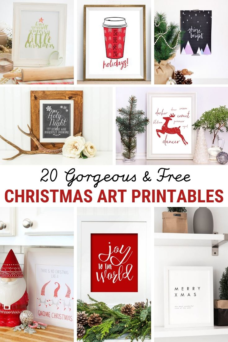 20 Free Christmas Printables For Your Home The Sweetest Digs