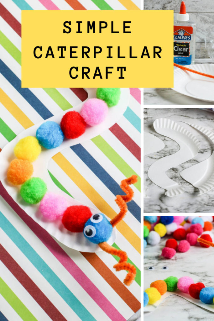 Collage of craft pictures making a caterpillar.