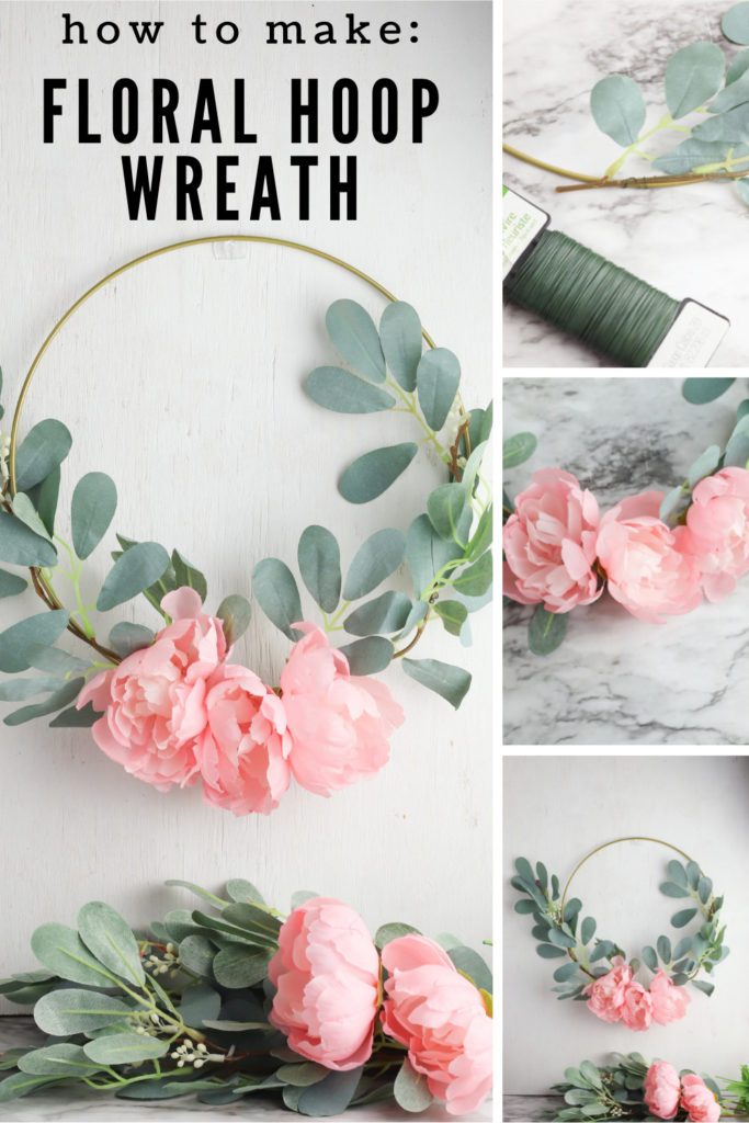 collage of spring flowers and floral wreath with text overlay.
